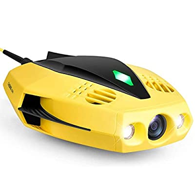 CHASING Dory Underwater Drone - 1080p Full HD Underwater Drone with Camera for Real Time Viewing, APP Remote Control, Palm-Sized and Portable with Carrying Case, WiFi Buoy and 49 ft Tether, ROV by CHASING