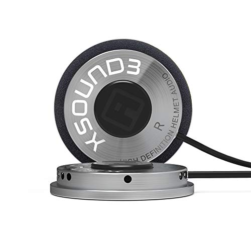 IASUS Premium Audio Motorcycle Helmet Speakers Work with Most Helmet Bluetooth Headset with Earbud Ports - The XSound 3 Drop in Helmet Headphones Speaker Kit Includes Accessories for a Quick Install