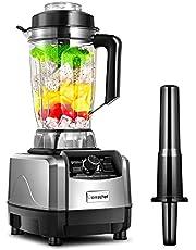 Blender Smoothie Maker 1500W,AMZCHEF Multifunctionele mixer, Ice-crusher, Milkshaker, 10 Instelbare Snelheden, 2 l BPA-vrije houder, zonder BPA 26000 tpm met receptenboek [Energieklasse A+++]