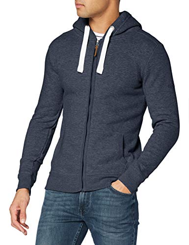 Eight2Nine Herren Fleece-Jacke, Blau (old navy melange), M