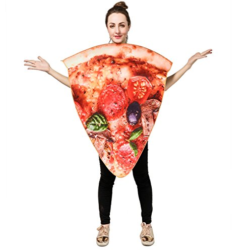 Unisex Adult Pizza Food Costume Onesize (Slice Pizza)