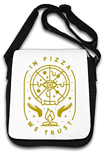 In Pizza We Trust All Seeing Eye Funny Food Lover Bolsa de Hombro