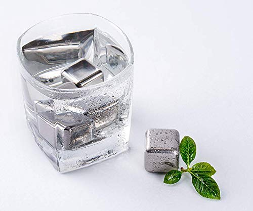 304 Edelstahl Schnellgefrorene Eiswürfel Metall Eis Körner Whisky Eis Wein Weinstein 6 Kapseln zum Versenden Aufbewahrungsbox zum Versenden von Clips