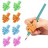YUEMA Guide Doigt Enfant, 8 Pièces Grips Multicouleur Crayon Ergonomique Aide Ecriture pour Enfant Adultes et Besoins Spéciaux