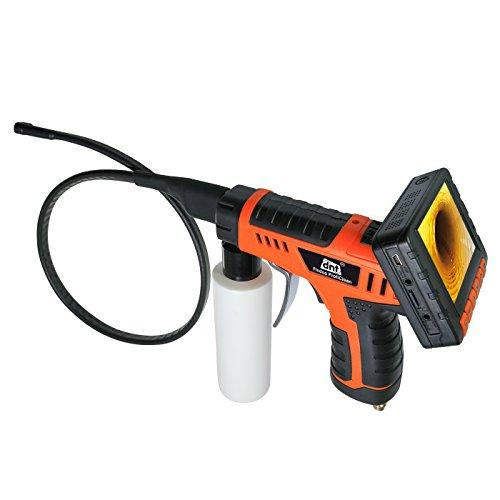 dnt Findoo ProfiClean 3.5 Endoskop-Kamera mit Druckluftreinigungspistole und abnehmbarem TFT-Farbmonitor orange