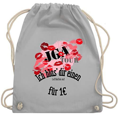 Shirtracer JGA Junggesellenabschied Frauen - JGA Tour - Ich blas dir einen Luftballon auf - Unisize - Hellgrau - ich blas dir einen turnbeutel - WM110 - Turnbeutel und Stoffbeutel aus Baumwolle