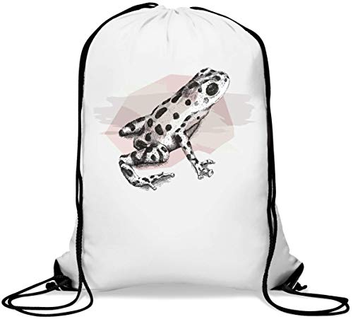 Cute Little Frog Pastel Color Sketch Mochila con cordón Informal Gym Sack