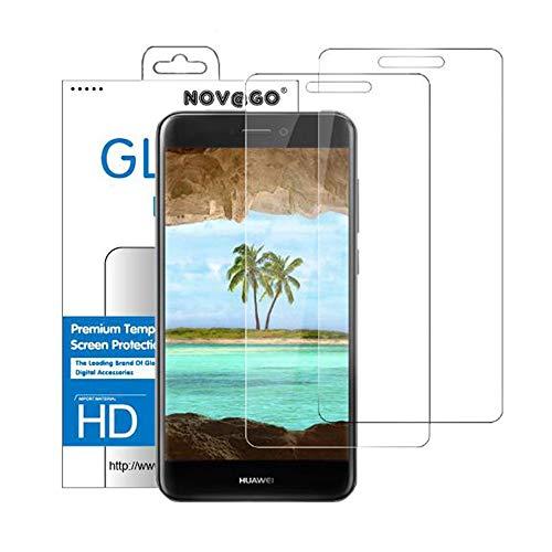 NOVAGO Compatible avec Huawei P8 Lite 2017, P9 Lite 2017, Honor 8 Lite 2017 - Film Protection écran en Verre trempé résistant Couvre la totalité de l'écran (x2, Transparent)