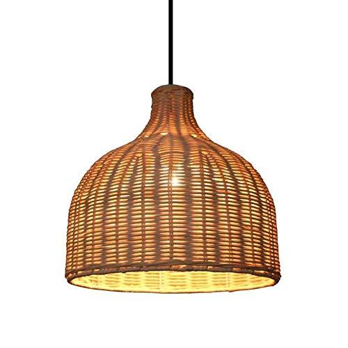 XUMINGDD hanglamp van natuurlijk bamboe en rotan lampenkap is de woonkamer, restaurant, bar, decoratieve lamp