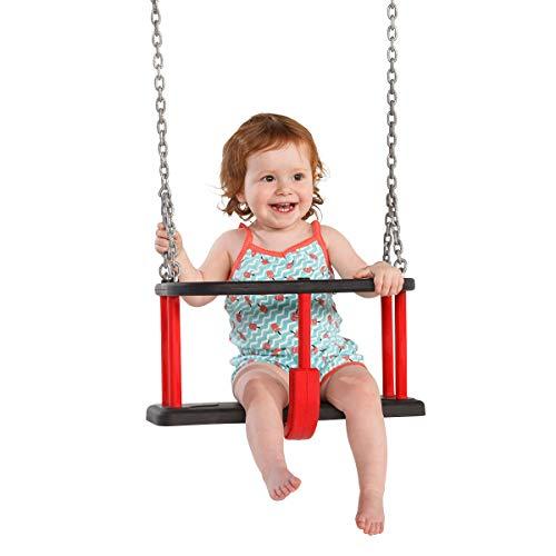 MASGAMES | Silla de Columpio bebé | Homologado Uso público | Cadenas galvanizadas Ø 5 mm y 230 cm Largo | 1-3 años |