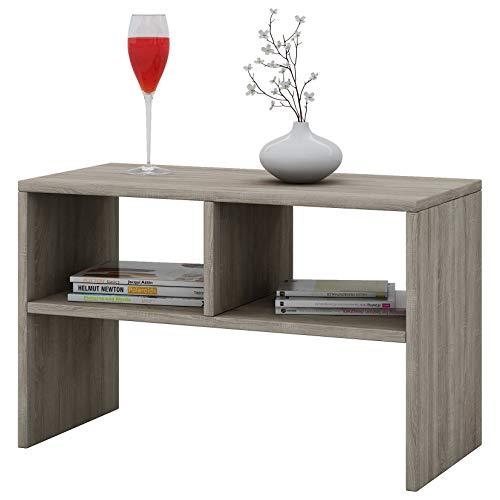 VCM Tisch Sofatisch Beistelltisch Couchtisch Wohnzimmertisch Kaffeetisch Nachttisch Sonoma-Eiche 40x63x30 cm