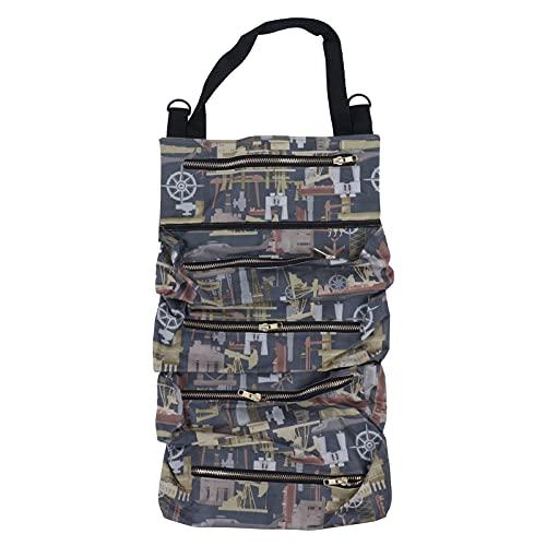Bolsa de herramientas, bolsa enrollable para herramientas de jardín, impermeable, multiusos, bolsa organizadora de almacenamiento, suministro de bolsa