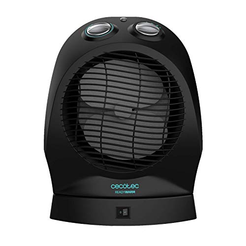 Cecotec Calefactor Baño Ready Warm 9750 Rotate Force. Potencia 2400 W, Oscilación, Termostato regulable, 3 modos, Silencioso, Protección sobrecalentamiento y Antivuelco