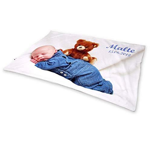 xieshang Fotodecke mit Eigenem Foto Name Super Weich,Decke Foto Personalisiert. Personalisierte Fotogeschenke. Baby Decke Einseitig personalisierte Decken. (120x175cm(47X68inch))