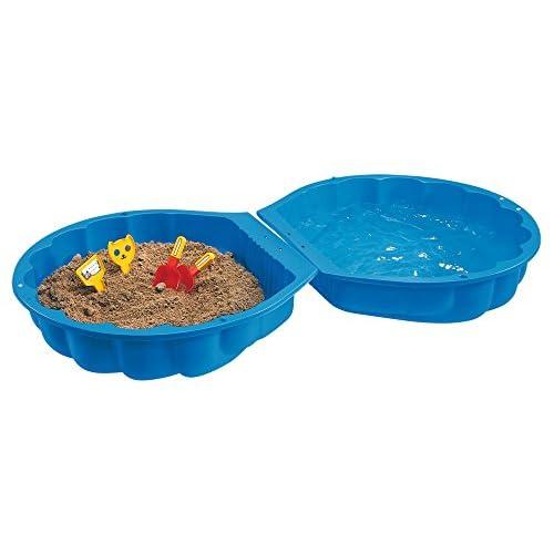 BIG S800007711 - Blu sabbia / conchiglia, 88 x 88 x 21 cm, 18 mesi - 7 anni