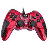 Rii Gamepad PC Wired USB gaming controller cable compatible with PS3, PC,PC360,Android,Arcade Game(Red)