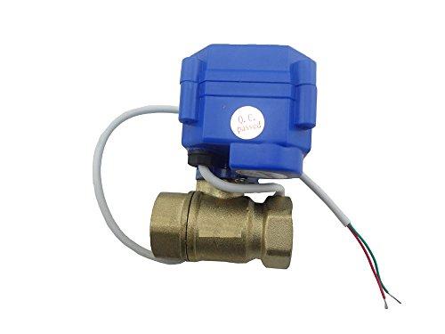 electric valve//valvola a sfera motorizzata//elettrovalvola//valvola a sfera elettrica//valvola motorizzata 2 way 12v reduce port MISOL 1 pcs of motorized valve brass G1 1//4 DN32