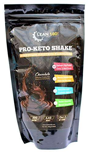 Pro Keto Shake - Best Tasting Low Carb Low Sugar Clean Protein Shake for Keto and all Diets Weight Loss (Chocolate)