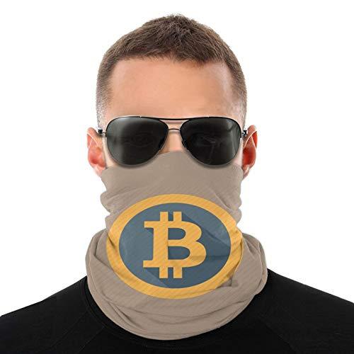 Bitcoin Logo Bufanda cálida para hombres y mujeres adultos Pasamontañas para hombres ligeros 20 * 10 Pulgadas