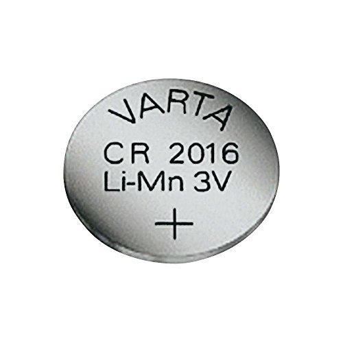 10X Knopfzellen Lithium - CR 2016, 3 V Varta 06016101401 1 Stck 90 mAh