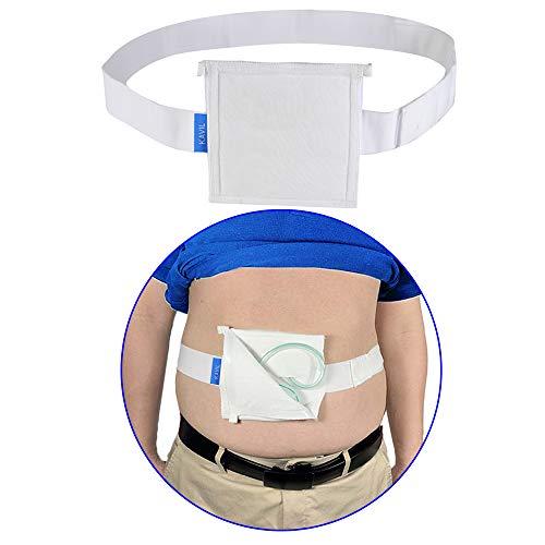 G Tube Holder Belt Feeding Tubes Accessories G Tube Covers Peg Tube Gastrostomy Catheter Pd Dialysis Belt Pads Drainage Medical Abdominal Dialysis For Men Women(28'~37')