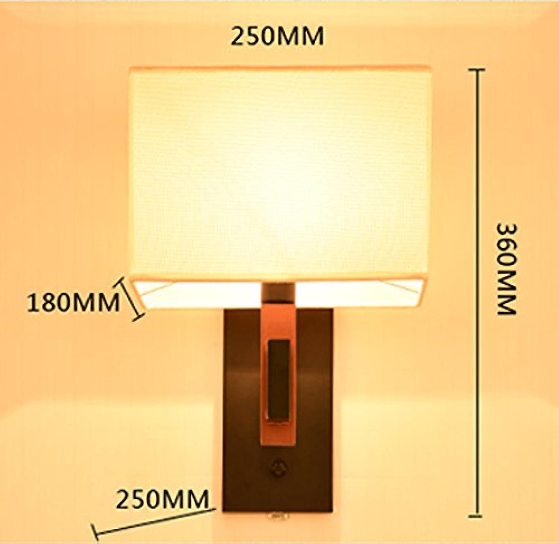 StiefelU LED Wandleuchte nach oben und unten Wandleuchten Wandleuchten aus rotem Holz Farbe Wohnzimmer balkon Treppe Schlafzimmer Nachttischlampe, G)