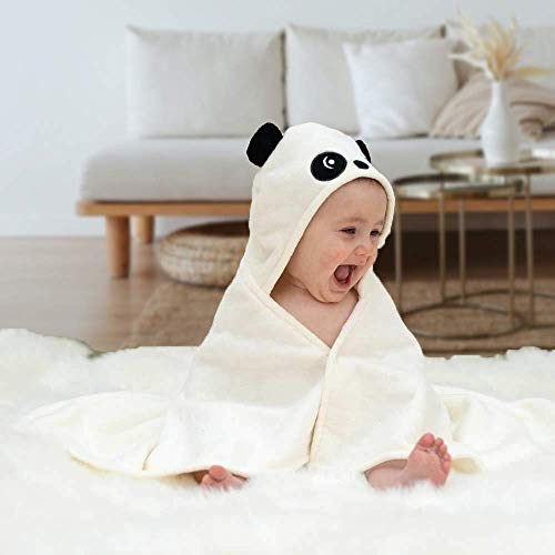 Toalla de bebé con capucha de bambú orgánico – Ultra suave y súper absorbente – Toallas de algodón de calidad perfectas para recién nacidos niños y niñas (Color – Negro)