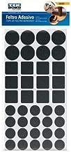 Feltro Protetor Adesivo com formatos sortidos preto Tekbond (40 unidades)