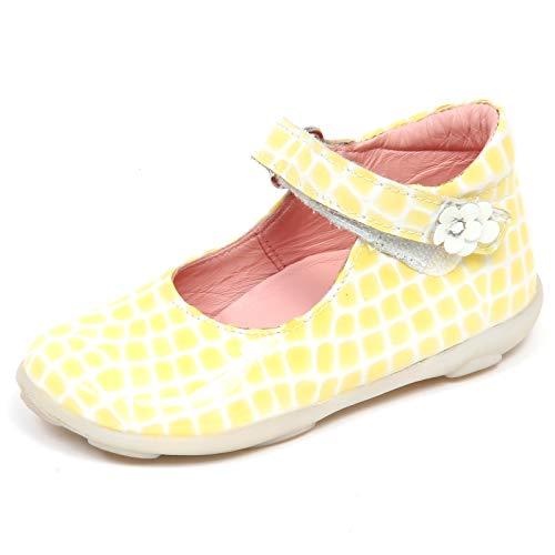 Falcotto F7254 Ballerina Bimba Girl Naturino Yellow/White Patent Cocco Shoe [18]