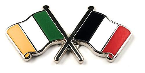 Ierland en Frankrijk Vlag Vriendschap reversspeld badge door NW Gifts