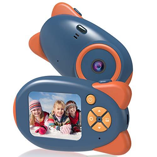 Vannico Camara de Fotos para Niños, Camara para Niños Cámara Digital 1080P HD Video Niña 3-10 Años16GB Tarjeta SD y Acollador (Azul)