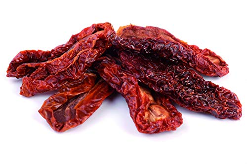 Bio Tomaten sonnengetrocknet Fairtrade 1kg ungesalzen, Öko 100% natürliche Tomaten, ohne Salz, glutenfrei, ungeschwefelt, ohne Konservierungsstoffe oder Schwefel, hoher Lycopin Gehalt 1000g