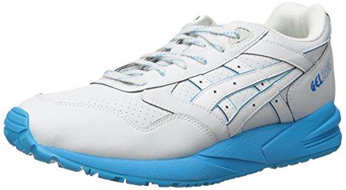 ASICS GEL Saga Chaussures de course rétro pour homme, blanc (Gris clair/gris doux.), 42.5 EU