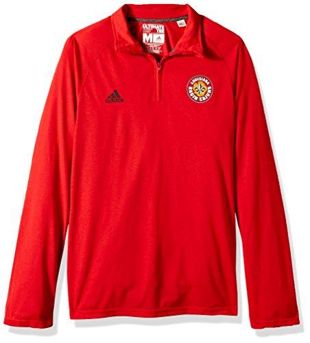 adidas Jersey para Hombre con Logo básico Ultimate L/S con Cremallera 1/4, Color Rojo