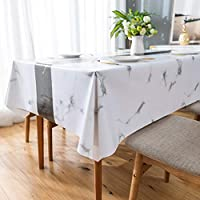 Leevan Pvc 54 x 54 Inch Vinyl Waterproof Rectangular Tablecloth