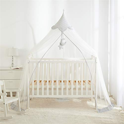 Xiaobaxi Mosquito Net for Baby Kids Infant Toddler Beds Canopy Hanging Crib Netting Play Tent, Grey