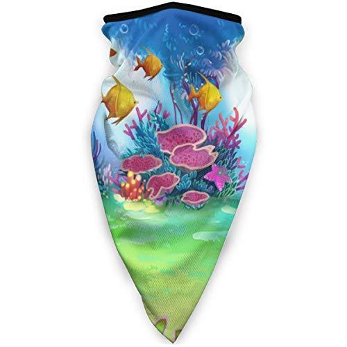 Cartoon Onderwater Tuin Zeepaardje En Vis Winddicht Gezichtsmasker Verstelbare Gezicht Hoofd Warmer Voor Outdoor Sport Multifunctionele Hoofddeksels