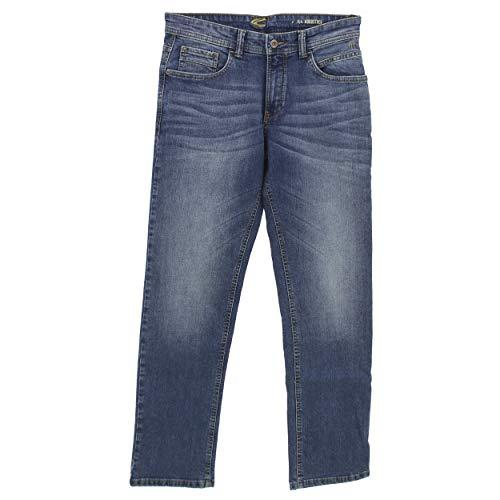 camel active, Woodstock, Herren Herren Jeans Hose Stretchdenim Blue Used W 40 L 32 [23200]