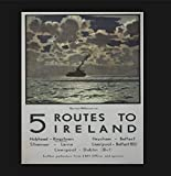 Cartel de metal vintage de 5 rutas a Irlanda, cartel de Irlanda, cartel vintage para pared, restaurante, cafés pubs, 8 x 12 pulgadas