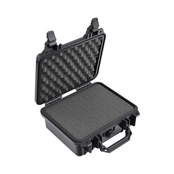Pelican 1200 case with foam (black) & 1120 case with foam (black) 2 the pelican 1200 case is watertight, crushproof, and dust proof. Pelican 1200 case is built with automatic pressure equalization valve. The 1220 case has stainless steel hardware.
