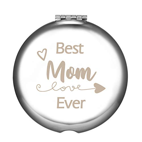 Best Mom Ever Gifts for Mom from Daughter and Son,Customized Unique Small Pocket Compact Mirror for Purse,Wonderful Mothers Day Birthday Christmas Thanksgiving Anniversary Memorable Gift for Her