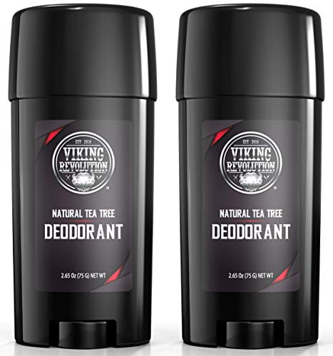 Natural Deodorant for Men - Aluminum & Parabens Free Mens Deodorant. Odor Protection and Freshness with All Natural Tea Tree Deodorant for Men, 2-Pack