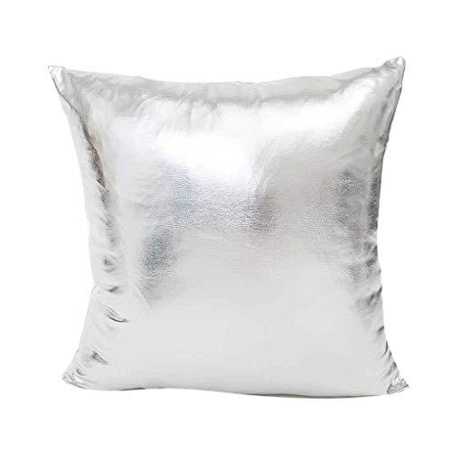 Busirde Hot Stamping Materiale Federa Piazza Pillowslip Cuscino Gettare Auto Divano-Letto Partito Disegno Living Room Decor Argento