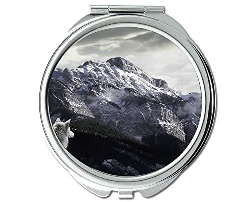 Yanteng Spiegel, Taschenspiegel, Wildwolf-Taschenspiegel für Tiere, 1 X 2X Vergrößerung