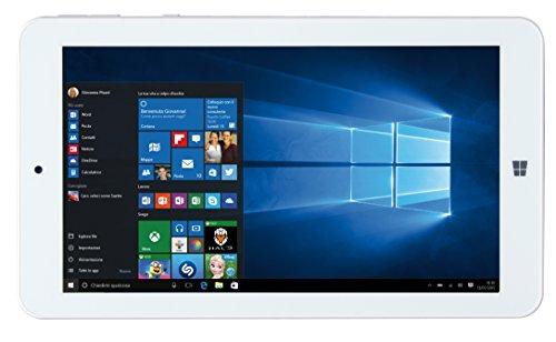 "Mediacom WinPad W700 Tablet PC, Display da 7"" IPS, Memoria Interna da 16 GB Processore Intel Atom Z3735G, Nero/Rosso"