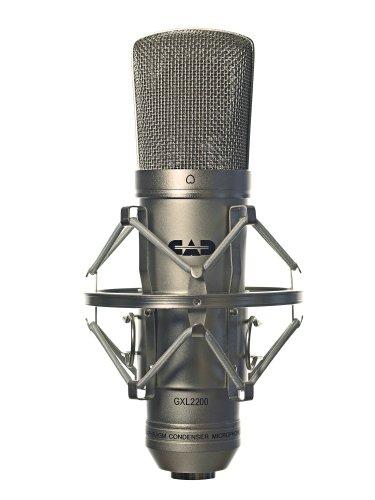 CAD Audio micrófono de condensador de diafragma grande para grabaciones de estudio (XLR, alimentación fantasma de 48V, diafragma de 1 pulgada, impedancia de 75 OHM, 30 Hz - 20 KHz), plata