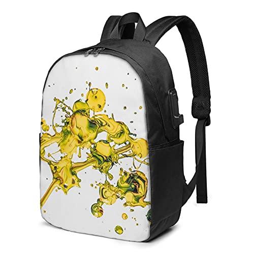 WaterdropBackpack con carga USB y puerto de auriculares con correa de hombro acolchada transpirable para la escuela/el trabajo/viajes niños niñas adultos