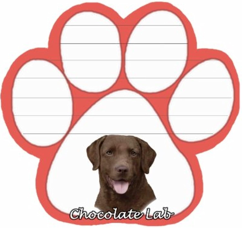 Schokolade Labrador Hund Paw magnetisch Note Pads B0067NG2S8 | Schön In Der Farbe