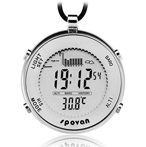 Spovan sportiva da uomo orologio da tasca pesca Remind el retroilluminazione allarme cronometro altimetro barometro Outdoor orologi