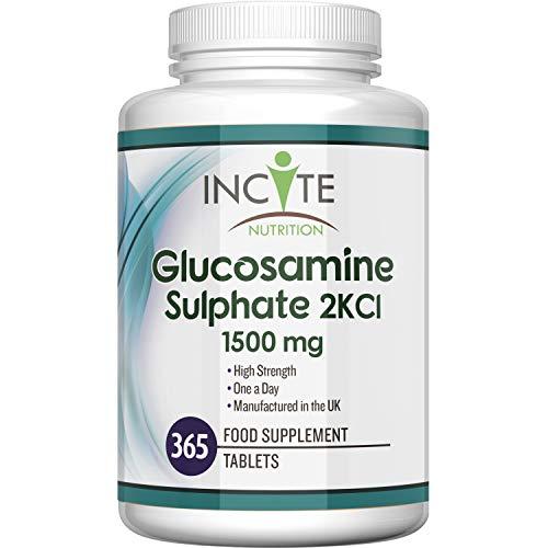 Sulfato de Glucosamina 2KCl, Suplemento de Alta Potencia de 1500 mg
